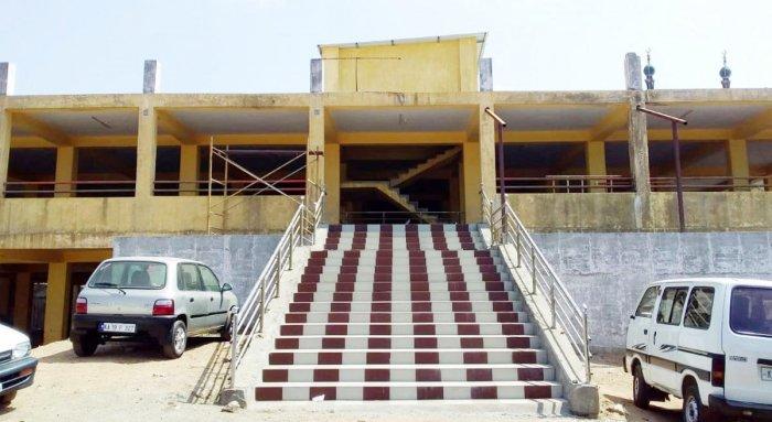 The hi-tech market building at Mahadevapete in Madikeri.