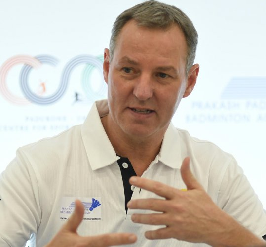 STRAIGHT TALKER: Badminton legend Morten Frost believes the change in scoring system has only made the modern game better. DH PHOTO/ SRIKANTA SHARMA R