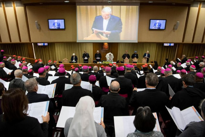 Pope Francis is seen as the four-day meeting on the global sexual abuse crisis takes place at the Vatican. (Reuters Photo)