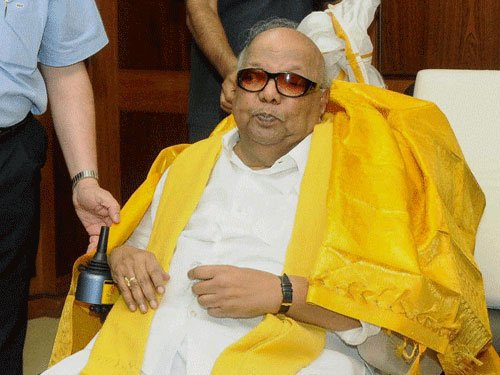Karunanidhi appears in sessions court;hearing adjourned to March 10