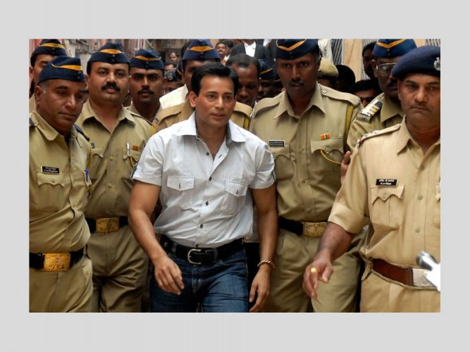 In picture: Gangster Abu Salem. Photo via Twitter.