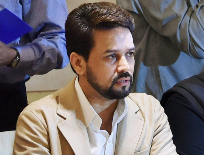 Anurag Thakur, chairman of Parliamentary Standing Committee on Information Technology. (PTI File Photo)