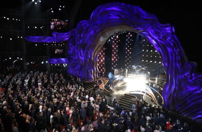 Adam Lambert performs with Queen. (Reuters Photo)