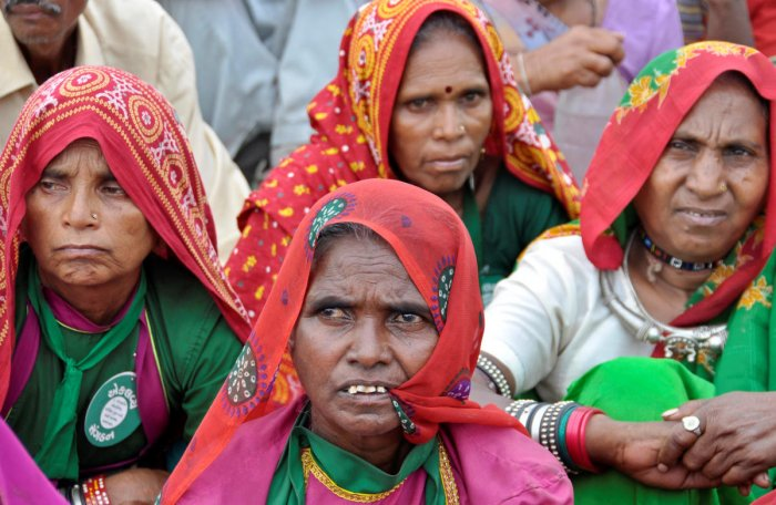 Tribal women attend a protest rally in Ahmedabad on March 6, 2010. REUTERS