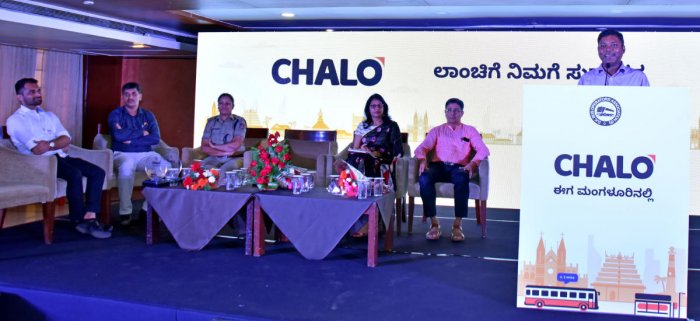 Deputy Commissioner Sasikanth Senthil speaks after launching Chalo app for Mangaluru.