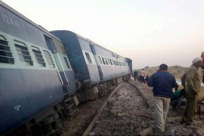 Two coaches of the Chennai-Mangalore Superfast Express derailed near Shoranur in Kerala on Tuesday morning, disrupting rail traffic. PTI file photo for representation only