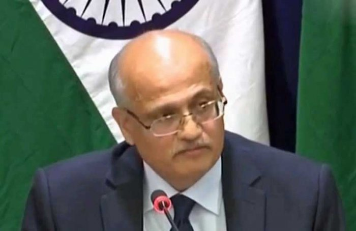 Indian Foreign Secretary Vijay Gokhale. (Video grab)