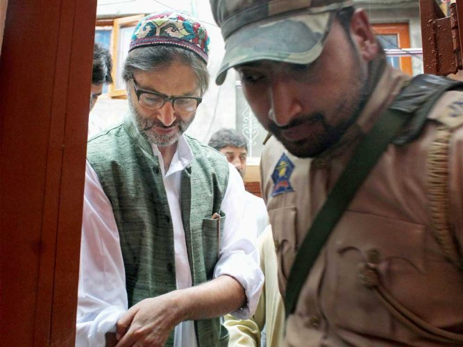 Jammu and Kashmir Liberation Front (JKLF) chief Yasin Malik.