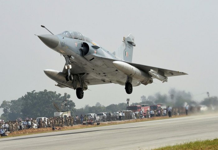 A fleet of Mirage 2000 deep-penetration fighter jets assisted by other assets of the Indian Air Force carried out the pre-dawn strike on the biggest terror camp of the Jaish-e-Mohammed (JeM) terror outfit in Pakistan, government sources said. PTI file pho
