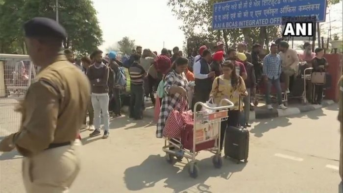 Passengers stranded as flight operations at Amritsar airport have been suspended.