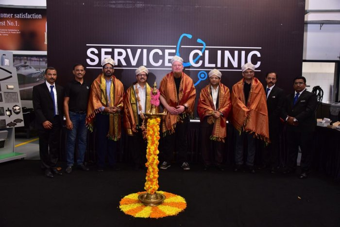 Dignitaries at the inauguration of the service clinic of Mercedes-Benz India and Sundaram Motors in Mangaluru.