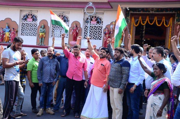 Vijayotsava was observed in front of Venkatramana Temple at Car Street in Mangaluru on Tuesday.