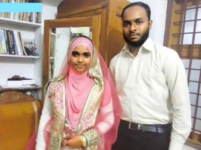 Kerala girl Hadiya alias Akhila and  Shafin Jahan. (Image courtesy Facebook)