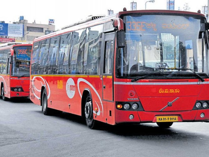 ABMTC bus driver and conductor were assaulted by three bike-borne men after the driver questioned the men for intercepting the bus. DH file photo