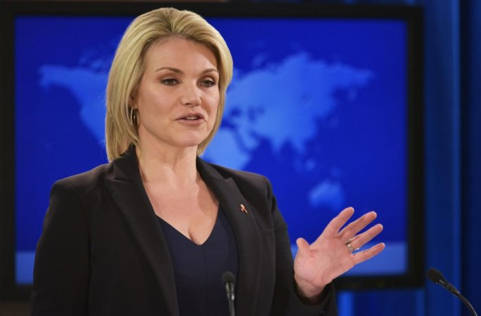 US State Department Spokesperson Heather Nauert. (AFP File Photo)