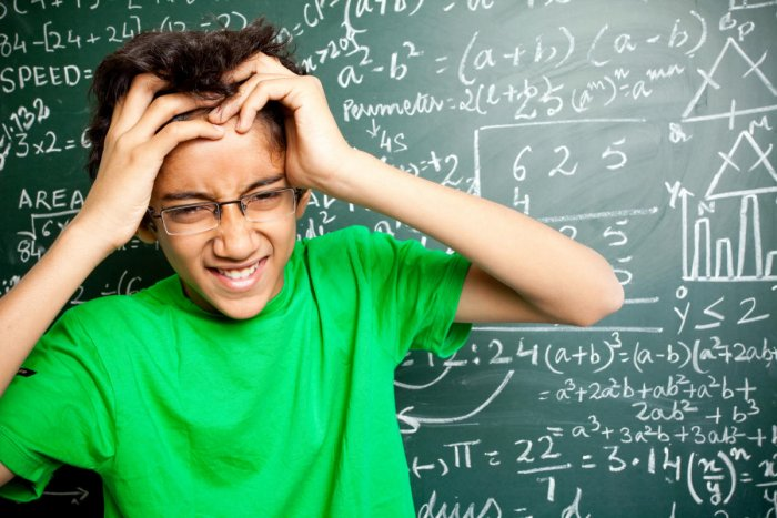 Apprehension Teachers must help students on their discomfort areas to cut stress on Math.