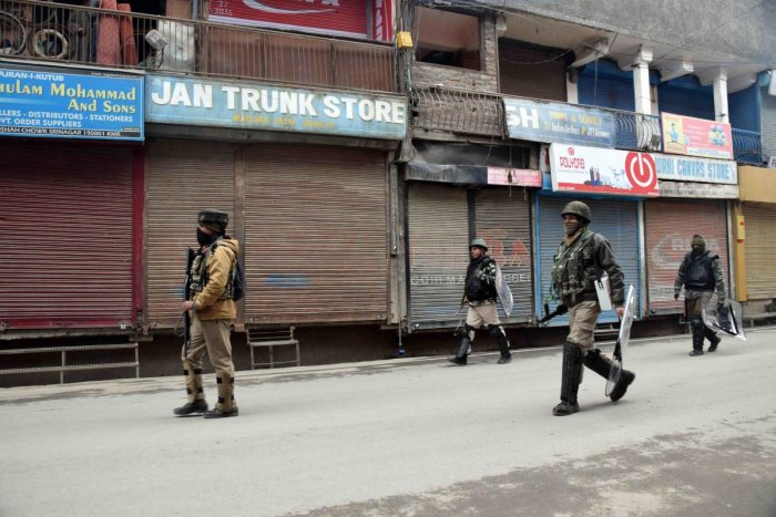 Most of the shops and other business establishments were shut in Srinagar. (File Photo)