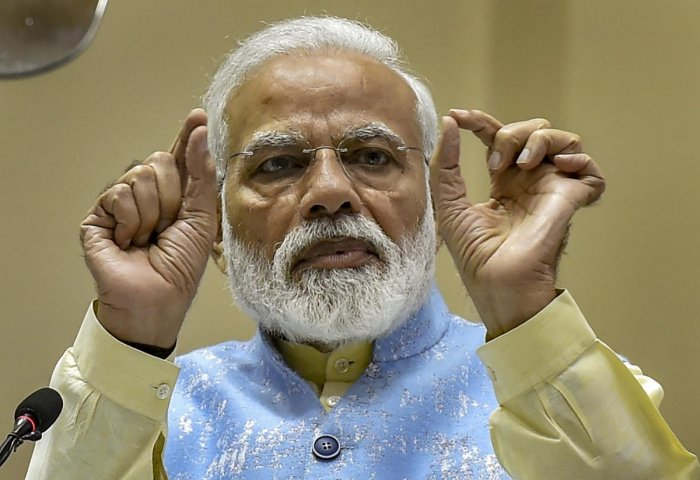 Modi also said India will fight, live, work and win as one and nobody can create hurdles in its march towards development. (PTI Photo)