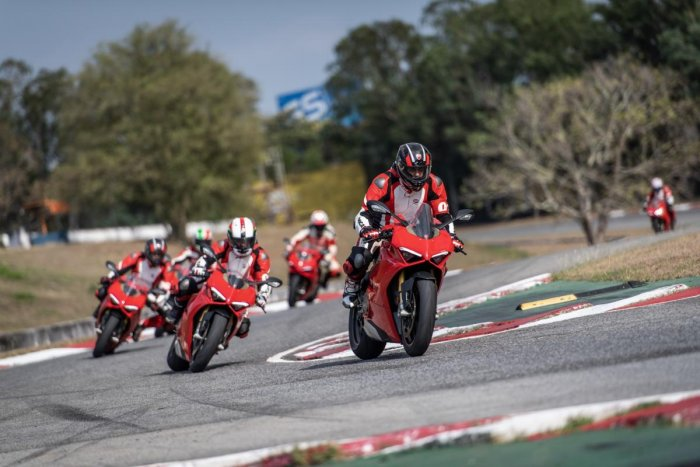 The DRE Racetrack focuses on teaching, enjoyment and adrenaline where riders are provided world-class training from the most revered riders on the racetrack, while riding the most beautiful and high-performance bikes in the Ducati Superbike family. (Speci