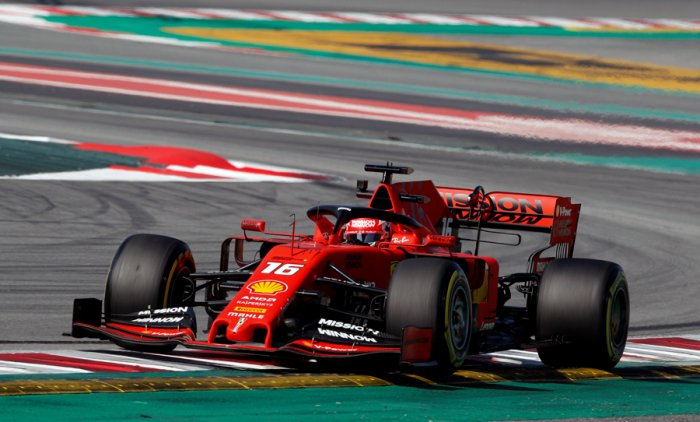 Charles Leclerc in action on Thursday. Picture credit: Reuters