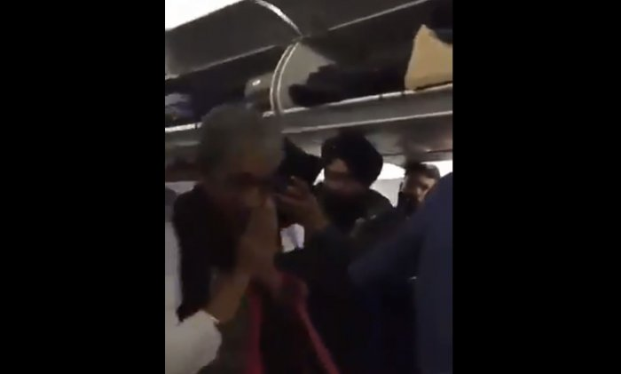 Air Marshal (retd) S Varthaman and Dr Shobha Varthaman were given a standing ovation as passengers made way for them in the early hours of Friday, ensuring that the couple gets off first. Screen grab