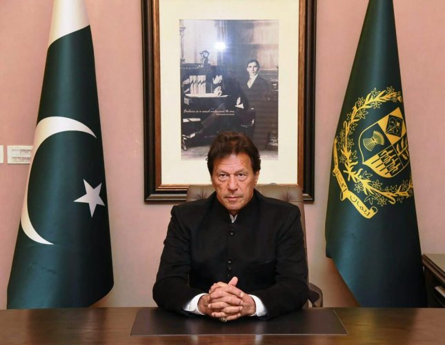 Pakistan's Prime Minister Imran Khan delivers policy statement on Pulwama attack, in Islamabad on  Feb 19, 2019. (PID/PTI Photo)