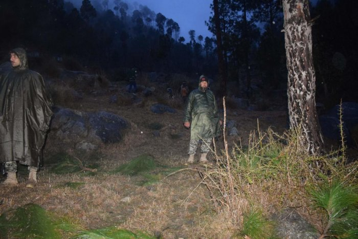 Pakistani soldiers and media personnel gather at the site where the Indian Air Force (IAF) strike launched on a Jaish-e-Mohammad (JeM) camp at Balakot. AFP file photo