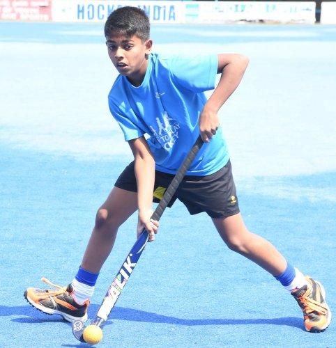 Dhanush Shane is keen to make steady progress. DH Photo/ Srikanta Sharma R