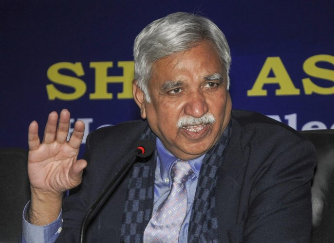 Chief Election Commissioner Sunil Arora. PTI file photo