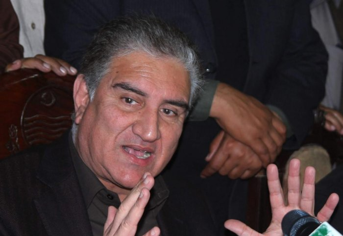 Pakistani Minister of Foreign Affairs Shah Mehmood Qureshi. (AFP File Photo)