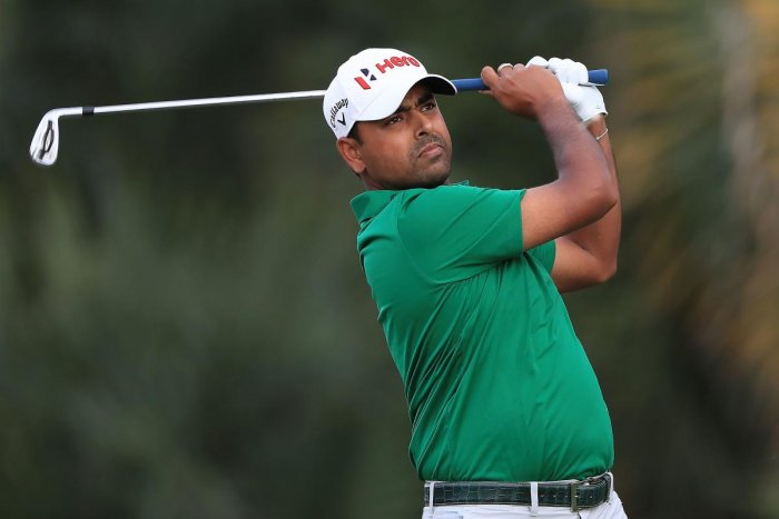 India's Anirban Lahiri of India in action during the second round of the Honda Classic at Palm Beach Gardens, Florida on Friday. AFP