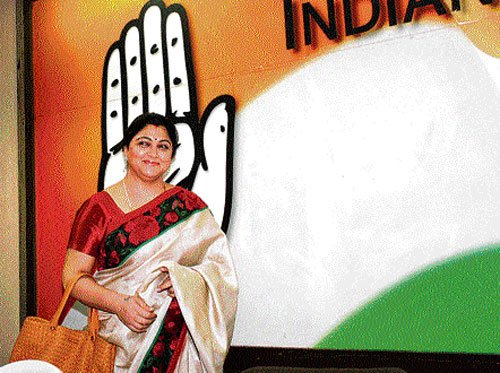 After DMK, Khushboo opens innings in Congress