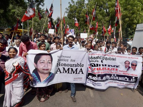 AIADMK protests transfers of IAS, IPS officers by EC