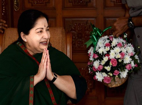 Jaya leads AIADMK to assembly poll victory in Tamil Nadu