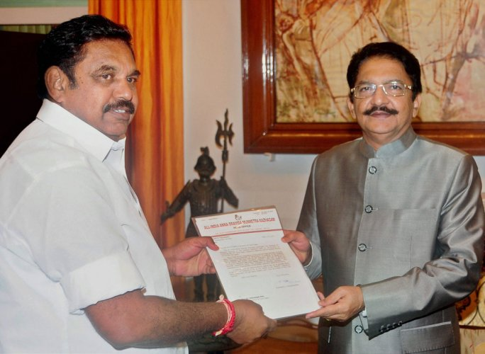 Palaniswami meets governor  again with a reminder letter
