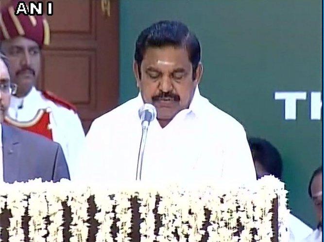 Sasikala loyalist Palaniswami sworn in as Tamil Nadu CM