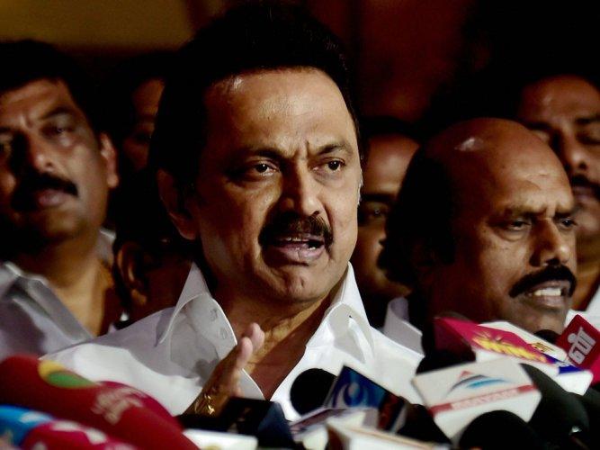 DMK on hunger strike against trust vote