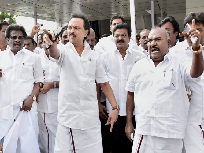 DMK terms Palaniswami govt as PM Modi's 'proxy regime'