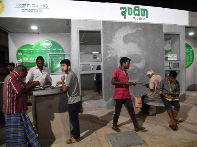 Indira Canteens to come up in all dist, taluk headquarters by Jan 1