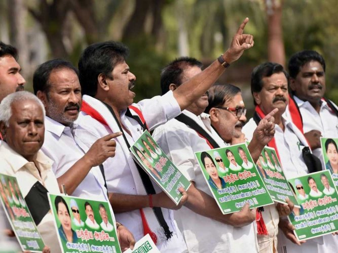 After working on it for several weeks, the Bharatiya Janata Party (BJP) is likely to announce its rainbow alliance with AIADMK and half-a-dozen political parties in Tamil Nadu on Tuesday. BJP President Amit Shah is expected to unveil the alliance on Tuesday evening after holding last-minute discussion with allies. PTI file photo