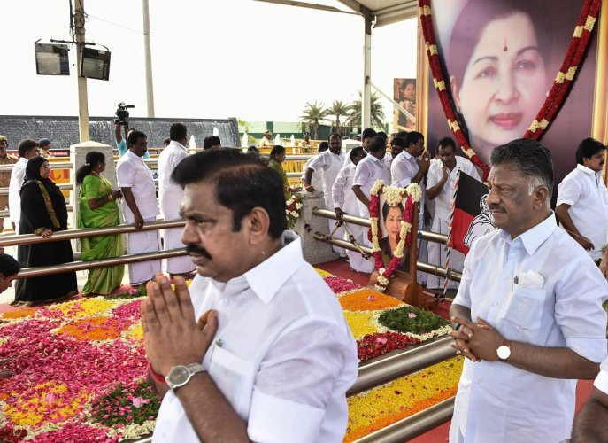 The AIADMK government will complete its two-year roller coaster ride on Wednesday. PTI file photo