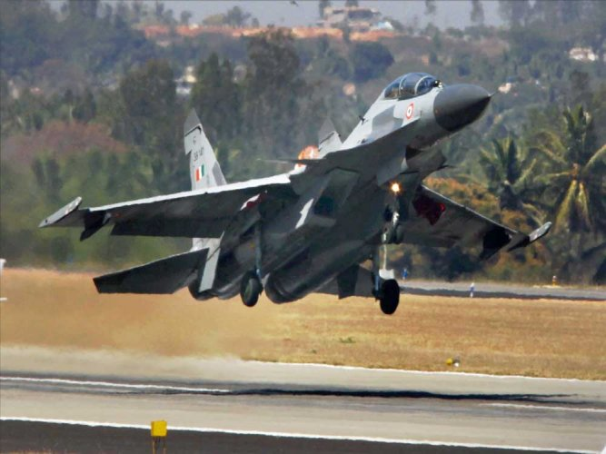 ndian fighter jets scrambled and fired Air to Air Missiles, downing the UAV. AP/PTI file photo.