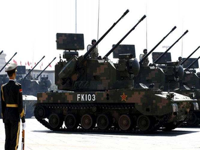 China, the world's second largest military spender after the US, Tuesday announced a 7.5 per cent increase in itsdefencebudget for this year,hikingit to a whopping USD 177.61 billion, over three times that of India. PTI file photo