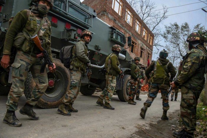 Two militants were killed in an encounter between militants and security forces in Jammu and Kashmir's Pulwama district, Army sources said on Tuesday. PTI file photo