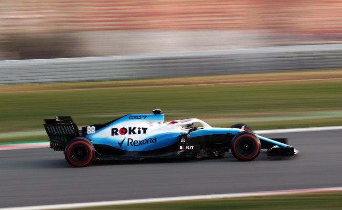Williams driver Robert Kubica during testing. Picture credit: Williams Racing