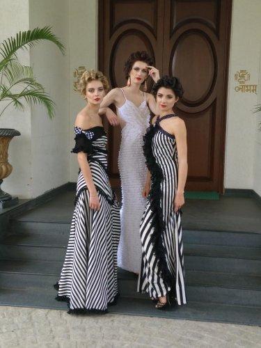 Gowns designed by Jattinn.
