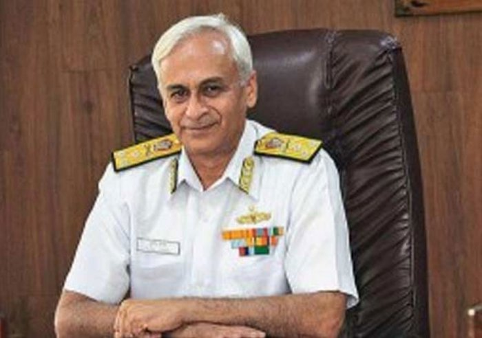 Navy Chief Admiral Sunil Lanba. PTI file photo
