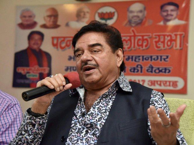 BJP MP Shatrughan Sinha. (PTI File Photo)