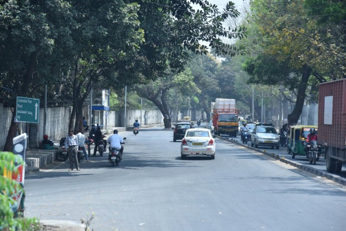 JC Nagar road for Eelvated Corridor stretch from Baptist Hospital to JC Nagar in Bengaluru on Tuesday 5th March 2019. Photo by Janardhan B K