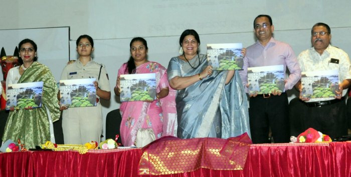 District In-charge minister Jayamala releases 'Coffee Table Book' in Udupi.